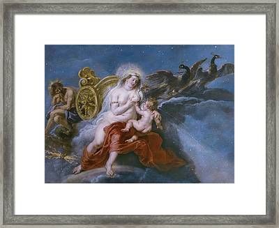 The Birth Of The Milky Way Framed Print by Peter Paul Rubens
