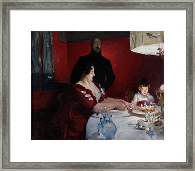 The Birthday Party Framed Print by John Singer Sargent