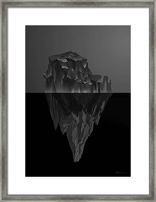 The Black Iceberg Framed Print