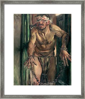The Blinded Samson Framed Print by Lovis Corinth