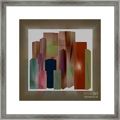 Framed Print featuring the digital art The Block by John Krakora