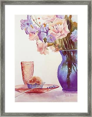 The Blue Vase Framed Print by Bobbi Price