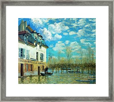 The Boat During The Flood, La Barque Pendant L'inondation, Port- Framed Print