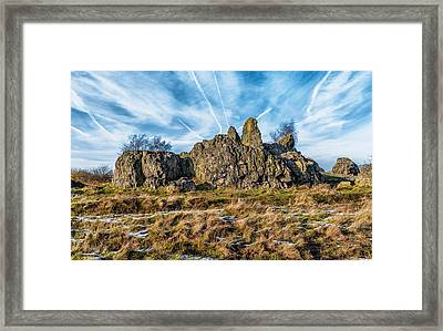 The Bomb Rocks Framed Print