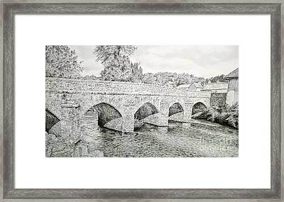 The Bridge Over The Barle Framed Print by Stuart Attwell