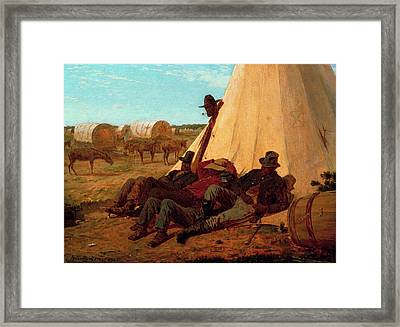 The Bright Side Framed Print by Winslow Homer