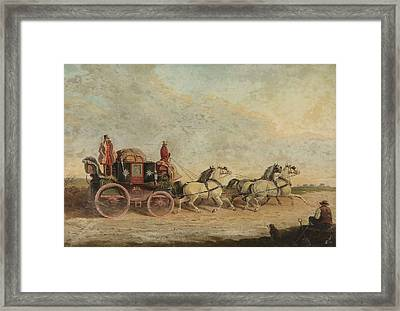 The Bristol To London Coach Framed Print by John Charles