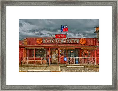 The Broken Spoke Framed Print by Mountain Dreams