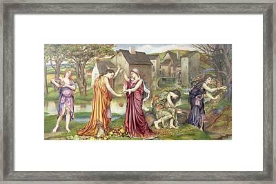 The Cadence Of Autumn Framed Print by Evelyn De Morgan
