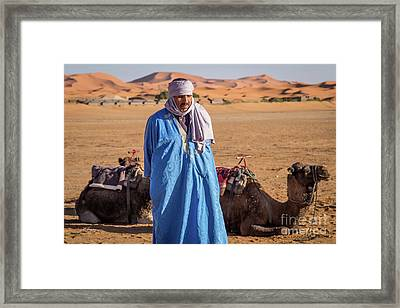 The Camel Driver Up Close And Personal Framed Print by Rene Triay Photography