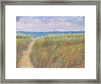 The Cape Framed Print by Laura Lee Zanghetti