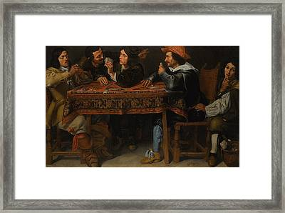 The Card Players Framed Print by MotionAge Designs
