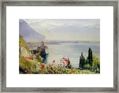 The Castle At Chillon Framed Print by John William Inchbold