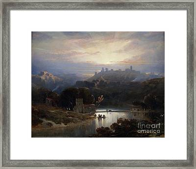 The Castle Of Alcala De Guadaira  Framed Print