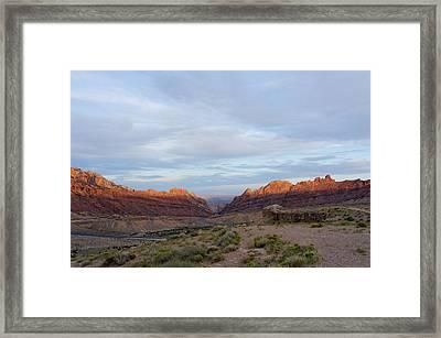 The Castles Near Green River Utah Framed Print