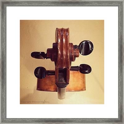 The Cello Box  Framed Print