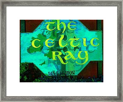 the Celtic Ray Framed Print by Charles Peck