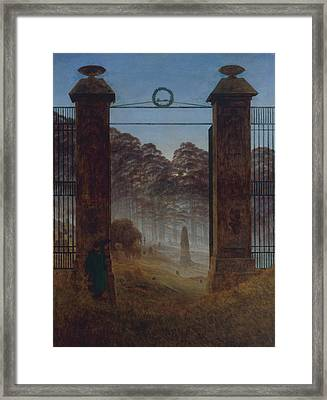 The Cemetery Framed Print by Caspar David Friedrich