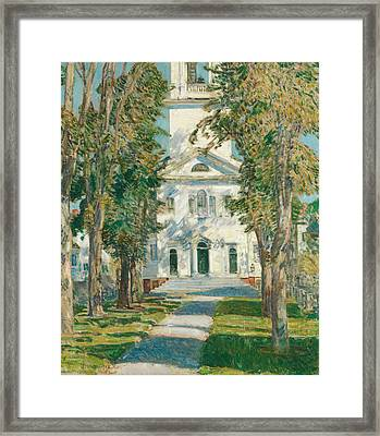 The Church At Gloucester Framed Print by Childe Hassam