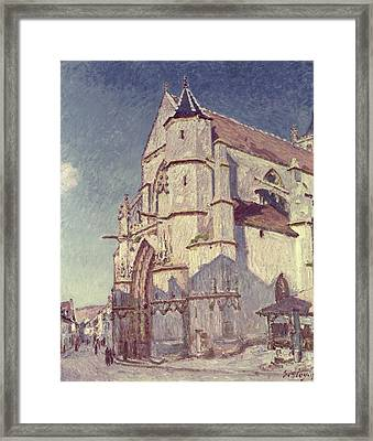 The Church At Moret Framed Print by Alfred Sisley