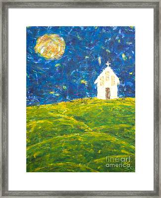 The Church At Newberg Framed Print