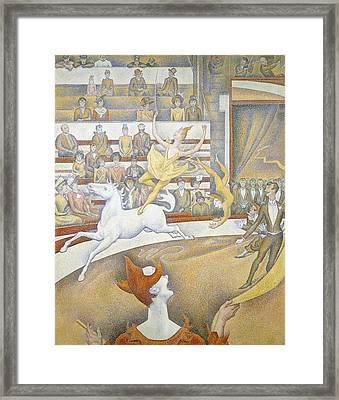 The Circus Framed Print by Georges-Pierre Seurat