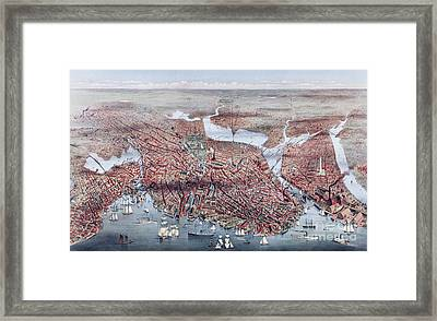 The City Of Boston Framed Print by Charles Parsons