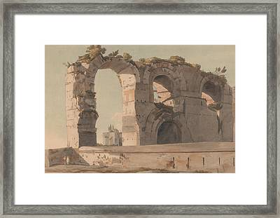 The Claudian Aquaduct, Rome Framed Print