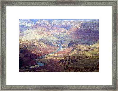 The Colorado River And The Grand Canyon Framed Print