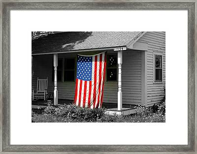 The Colors Of Freedom Framed Print by Linda Galok