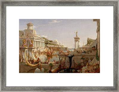 The Consummation Of Empire Framed Print by Thomas Cole