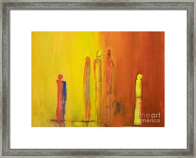 The Conversation Framed Print by Gallery Messina