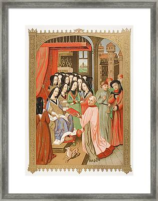 The Court Of Mary Of Anjou 1404 To 1463 Framed Print