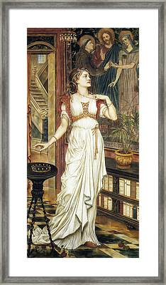 The Crown Of Glory Framed Print by Evelyn de Morgan