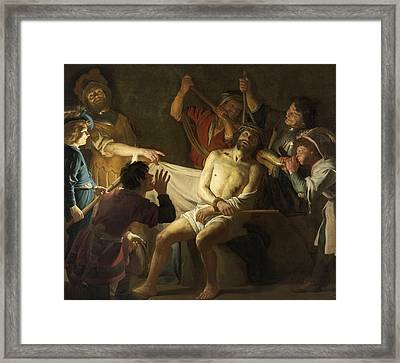 The Crowning With Thorns Of Jesus Framed Print