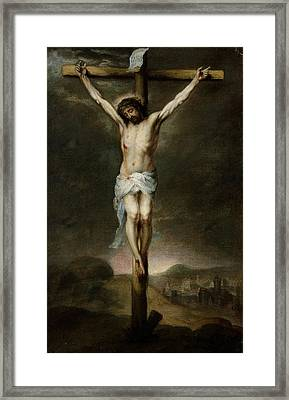 The Crucifixion Framed Print by Bartolome Esteban Murillo