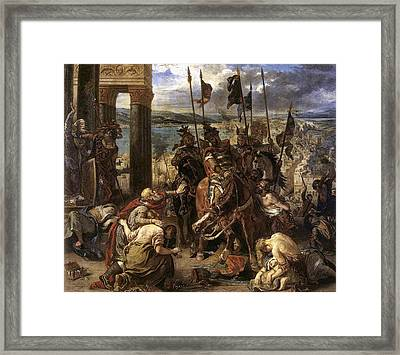 The Crusaders Entry Into Constantinople Framed Print by Eugene Delacroix