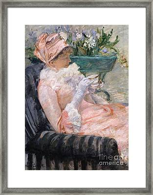 The Cup Of Tea Framed Print