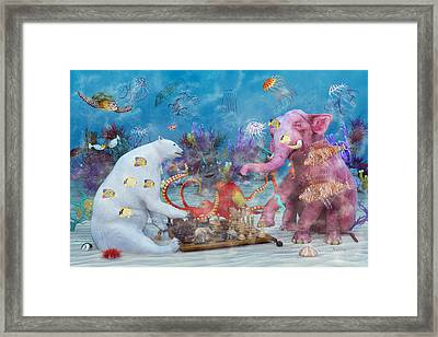 The Curious Game Framed Print by Betsy Knapp
