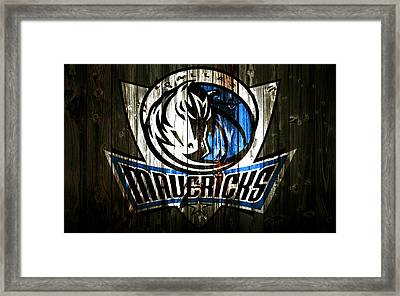 The Dallas Mavericks 2c Framed Print