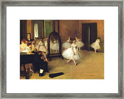 The Dance Hall Framed Print