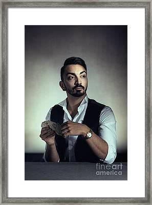 The Dealer Framed Print by Amanda Elwell