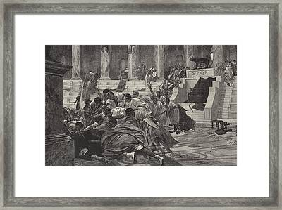 The Death Of Caesar Framed Print