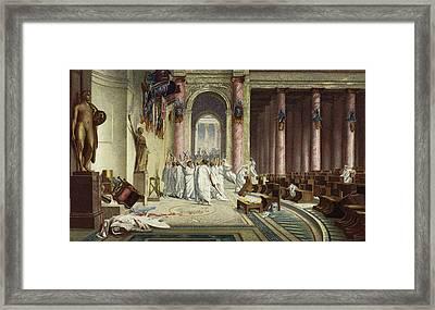 The Death Of Caesar Framed Print