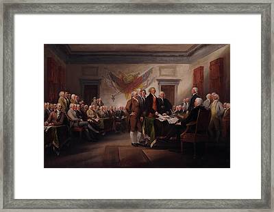 The Declaration Of Independence Framed Print by Mountain Dreams