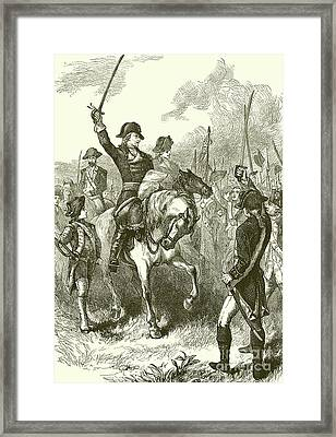 The Declaration Of Independence Read To The Army  Framed Print by English School