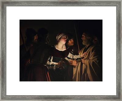 The Denial Of Saint Peter Framed Print
