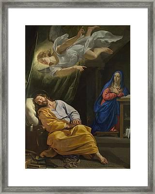 The Dream Of Saint Joseph Framed Print