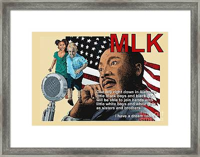 The Dream Speech Framed Print