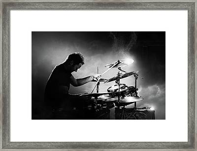The Drummer Framed Print by Johan Swanepoel